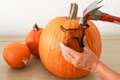 Pocus: 5 Pumpkin Carving Hacks Read on for 5 pumpkin carving hacks that are sure to make your Halloween extra spooky…Read on for 5 pumpkin carving hacks that are sure to make your Halloween extra spooky… Entree Halloween, Halloween Cans, Holidays Halloween, Halloween Pumpkins, Halloween Decorations, Halloween Ideas, Halloween Stuff, Halloween Party, Halloween Havoc