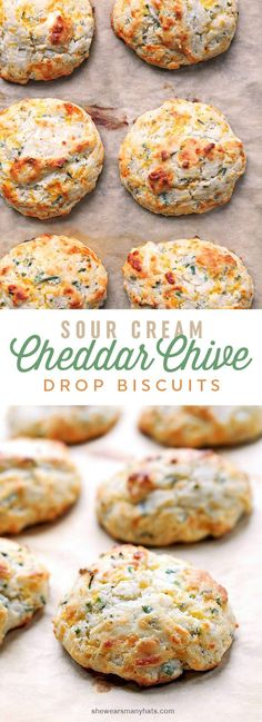 Easy Sour Cream Cheddar Chive Drop Biscuits Recipe