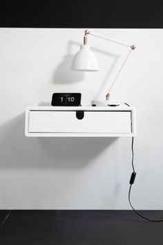 Floating White Nightstand / Bedside Table / Drawer By Habitables  I Think  You Can Custom