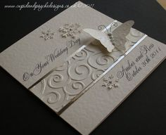 Wedding card - Congratulations - White and Silver