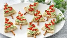 Pita Tree Appetizers for Christmas