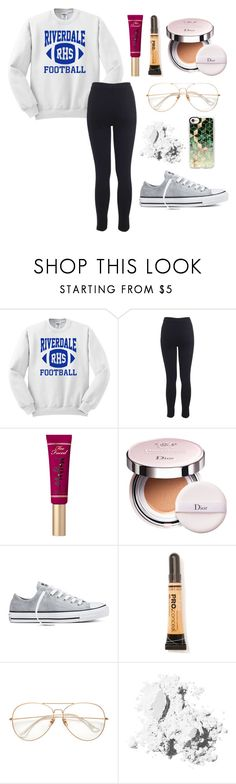 """""""Season 2 coming out in October!"""" by alyssa-wilsonn ❤ liked on Polyvore featuring Miss Selfridge, Christian Dior, Converse, L.A. Girl, Bobbi Brown Cosmetics and Casetify"""