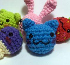 Kawaii Chibi Amigurumi Pattern – Cat, Dog, Bunny, Bear, Duck, Mushroom, Carrot or Strawberry
