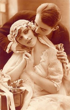 1920s French Bride  ~  This beautiful  postcard was printed in Paris, France. Dated June 18, 1926.
