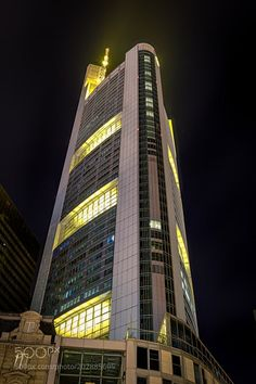 Commerzbank Tower @ Night by oliver53