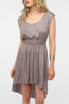 Pins and Needles Smocked Waist Soft Woven Dress