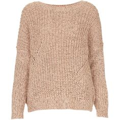 TOPSHOP Petite Chunky Mix Rib Jumper (115 AUD) ❤ liked on Polyvore featuring tops, sweaters, jumpers, shirts, nude, petite, ribbed shirt, beige sweater, chunky sweater and petite sweaters