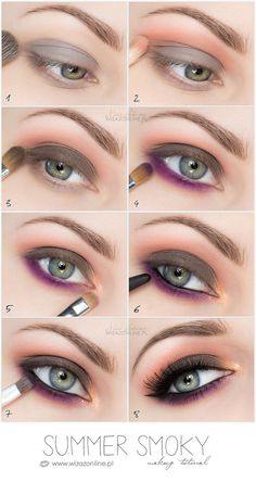 Hint of purple smokey eye makeup