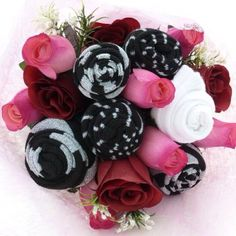 ladies' gifts with photos | Ladies Sock Bouquet - Unusual gift idea Www.Vintagedreamwedding.Com