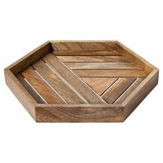 Nate Berkus Wood and Metal Inlay Tray - shows more content