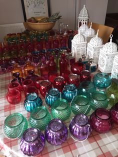 Middle Eastern, Moroccan, Arabic, lanterns, votives, Tealights, bright colours, flowers, Party, garden