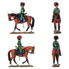 """Soldado de los Cazadores a caballo de Nassau - 1810 (Colección """"Caballeros de las Guerras Napoleónicas"""" editada por delPrado - 60 mm) Subido desde www.elgrancapitan.org"""