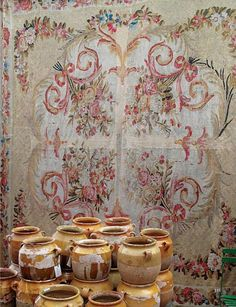 Aubusson and old pottery, Provence