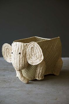 Woven Storage Animal - Elephant from Rockett St George