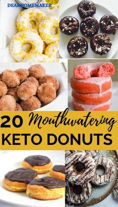 20 Best Keto donut recipes that are low carb, sugar-free and very delicious. These keto donuts are made with keto-friendly ingredients and are perfect for a sweet low carb breakfast treat or snack. #keto #lowcarb #ketodonuts #donut #desserts Sugar Free Donuts, Keto Donuts, Quick Keto Breakfast, Keto Breakfast Smoothie, Donut Recipes, Low Carb Recipes, Delicious Donuts, Yummy Food, Pumpkin Donuts Recipe