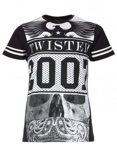 Twisted Soul Mens Black Compton Print T-Shirt Casual T Shirts, Boys T Shirts, Cool Shirts, T Shirt Vest, Shirt Designs, Mens Tops, How To Wear, Spring Summer, Collections
