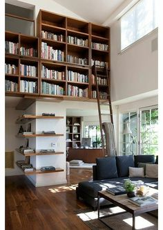 bookshelf--up high.  And I like the one that goes around the corner too.