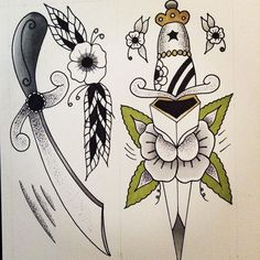 2 of 3 complete #apprentice #apprenticetattoo #apprenticeship #bristol #blackwork #blackworkers #bowery #design #illustration #tattoo #tattoosofinstagram #tattooer #tattooed #flash #flashart #flashworkers #traditionaltattoo #traditional #oldlines #oldschool #vintage #spitshade #art #drawing #sketch #dotworktattoo #dotwork #tats #rockabilly #dagger by dottybronson