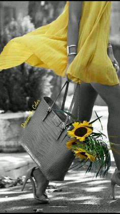 Black And White Background, Black And White Pictures, Splash Photography, Color Photography, Mellow Yellow, Black N Yellow, Color Splash Photo, Splash Of Colour, Splash Art