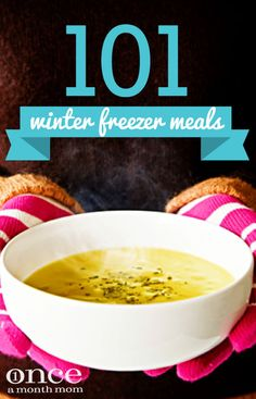 Winter Freezer Meals Keep your freezer and your belly full this winter with this list of 101 Winter Freezer Meals. Keep your freezer and your belly full this winter with this list of 101 Winter Freezer Meals. Bulk Cooking, Batch Cooking, Freezer Cooking, Cooking Recipes, Cooking Tips, Cooking Steak, Cooking Turkey, Cooking Classes, Plan Ahead Meals