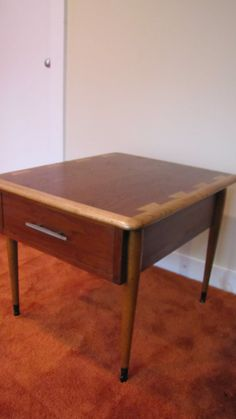 Mid Century Modern Lane Acclaim Side Table End by CapeCodModern