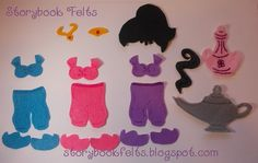 Felt Doll My Little Genie Felt Doll Dress Up Set by StorybookFelts