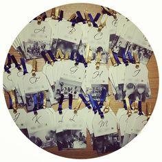 二次会エスコートカード( ¨̮ )❥❥ ゲストそれぞれと写っている写真を使って作りました♡ 裏にメッセージを書いて、ツリーに吊り下げる予定(*˙˘˙) #プレ花嫁 #二次会 #エスコートカード