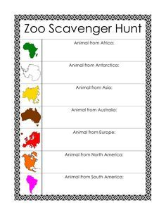 Every Star Is Different: Montessori-Inspired Zoo Scavenger Hunts w/ Free Printables (Learn & Play Link Up)