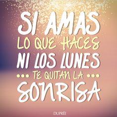 Cuando amas lo que haces, ni los lunes te quitan la sonrisa. ¡Feliz y sonriente semana! #FelizLunes Quites, Doterra, Instagram Posts, Truths, Frases, Texts, Being Happy, Happy Smile, Happy Monday