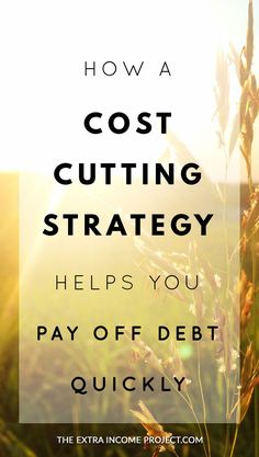 Learn how a cost cutting strategy helps you pay off debt quickly. Contains budgeting tips to help you pay off debt fast by identifying and reducing your outgoings. Build a better budget with these budget tips.