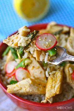 A spring delight for Sunday dinner (or any night): Lemon Chicken & Spring Veggie Rice Bowls