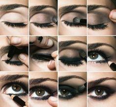 Buğulu/Dumanlı, Siyah Göz Makyajı Nasıl Yapılır ? (Resimli Anlatım)