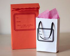 DIY: envelopes = gift bags. These are so cleverly made, you can't even tell they're made from envelopes.