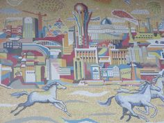 Mosaic - Astana train station