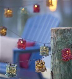 Multicolored Vine Outdoor Solar String Lights