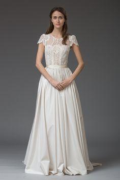 Rosa. Gorgeous lace wedding dress from Katya Katya Shehurina #lace #capsleeves #wedding #dress