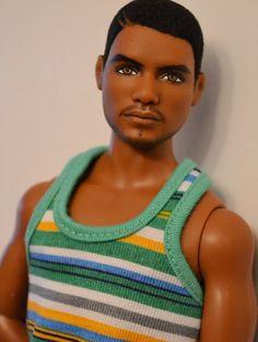 Black Male Fashion Doll with Beard.