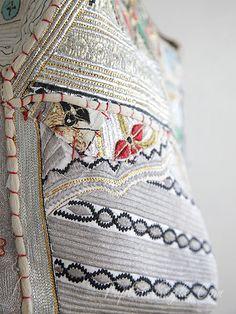 画像4: 【 セール品 】■スペイン imayin 全面織り生地パッチワークの装飾のバケツ型バッグ カシオペア