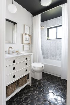 The bathroom is one of the most used rooms in your house. If your bathroom is drab, dingy, and outdated then it may be time for a remodel. Remodeling a bathroom can be an expensive propositi… Beautiful Bathrooms, Modern Bathroom, Master Bathroom, Mint Bathroom, Silver Bathroom, White Bathrooms, Brown Bathroom, Bathroom No Window, Bathroom Artwork