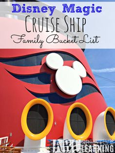 Disney Magic Cruise Ship - Family Bucket List! Have you been on a Disney Cruise or are you thinking about taking the family? Well, take a look at why we have added a Disney Cruise on our Family Bucket List! Plus a look on board! - abccreativelearning.com