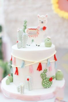 Llama birthday cake Gina Humilde Events - Kindergeburtstag - Llama birthday cake Gina Humilde Events Best Picture For cactus drawing For Your Taste You are lo - Llama Birthday, Birthday Cake Girls, Baby Birthday, First Birthday Parties, Birthday Party Themes, First Birthdays, Birthday Ideas, Birthday Cake Designs, Christmas Birthday Cake