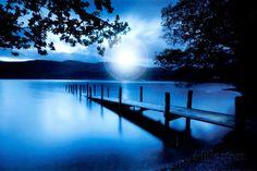 Blauwe lagune Poster