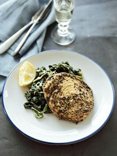 Spiced swordfish with spinach recipe
