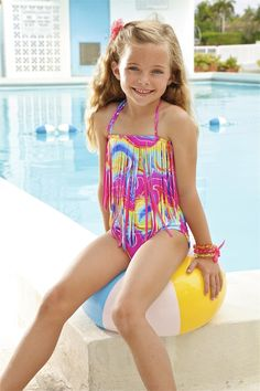 Peixoto Kids Flamingo | Designer Kids Printed One Piece ...