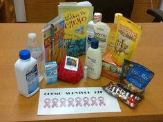 Chemo survival kit. some good ideas to put in a tote, or gift basket. Farm Without A Name: Survival Kit
