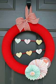 Add some blue in and it would be a cute 4th of July wreath