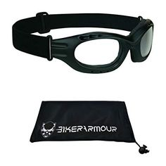 a4d928639b Motorcycle Goggles Clear Lens for Men and Women. Large Microfiber Cleaning  Case Included for Free