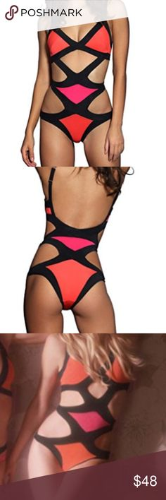 Sexy Cutout Bandage Geometric Monokini Bathingsuit super cute brand new never worn bathing suit. 90% rayon/9% nylon/1% spandex. feel free to make an offer! C.C. Boutique Swim One Pieces
