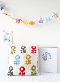 Pillow Cushion Crochet Pattern PDF 14x14 inch by LittleDoolally on Etsy