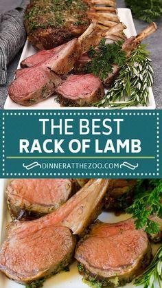 Lamb Recipes Oven, Roast Recipes, Chicken Recipes, Cooking Recipes, Dinner Recipes, Best Lamb Recipes, Lamb Rack Recipe, Indian Food Recipes, Italian Recipes
